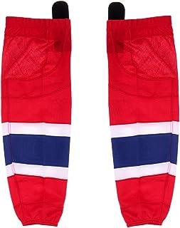 Sharplace 2 x Adultes Enfants Maille Chaussettes de Hockey sur Glace Sèchage Rapide Performance Anti-Abrasion