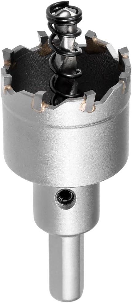 sourcing map Carbure Trou Coupeur Foret Acier pour Inox Alliage 80mm