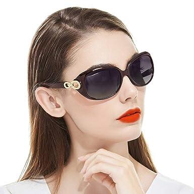 Amazon.com: Gafas de sol para mujer con marco grande, lentes ...