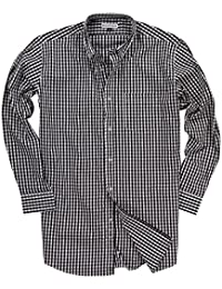 "<span class=""a-offscreen"">[Sponsored]</span>Men's Long Sleeve Button Down Stretch Fit Gingham Plaid Shirt"
