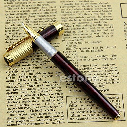 Advanced Fountain Pen 9009 Fine Nib Claret and Golden - 2