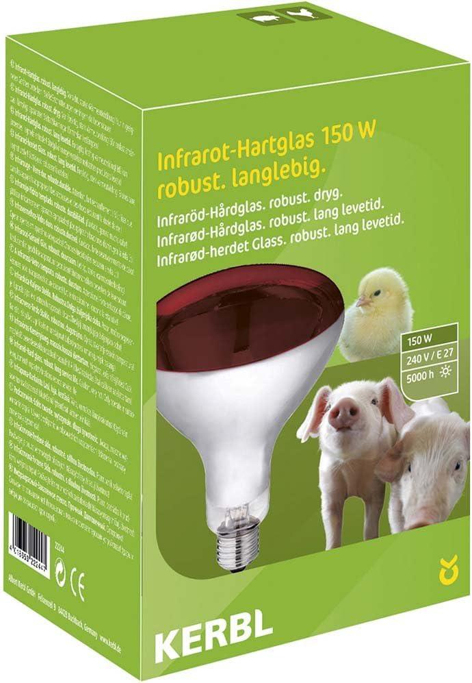 Kerbl 22244 Infraroodlamp, met Gehard Glas, 150 W, Rood Rood