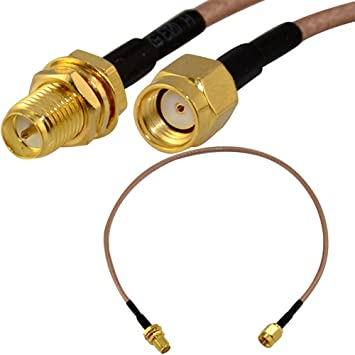 RP-SMA Hembra Nut a RP SMA Macho Cable Coaxial Pigtail RG316 30cm: Amazon.es: Electrónica