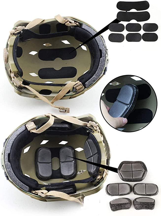 Gerioie Almohadillas Protectoras para Casco Almohadillas de Espuma para Casco EVA Negra Suave para Motocicleta