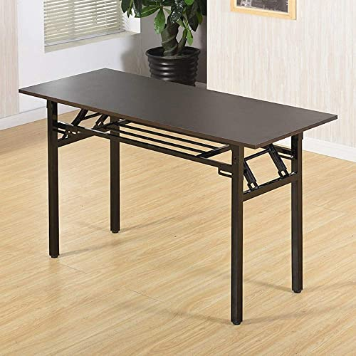 Folding Computer Desk Simple Writing Table for Home Office Study Two Storey Storage Space 47.3 x 23.7 x 29.6 Inches Littay