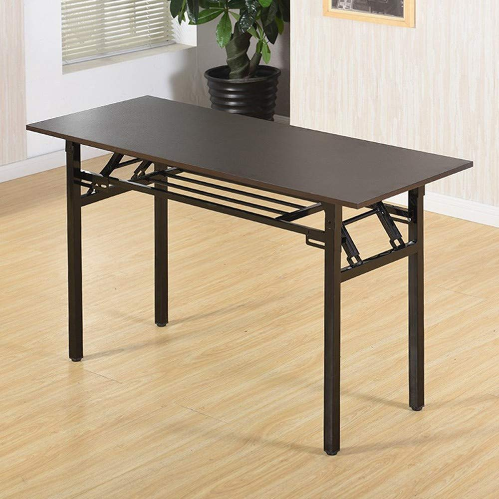 Dowager 47 inches Small Computer Desk for Home Office, Folding Table Writing Table for Small Spaces Study Table Laptop Desk No Assembly Required by Dowager_Home Storage