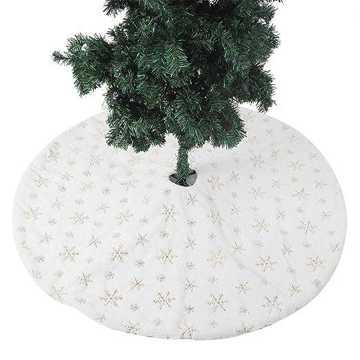 Falda Blanca para el árbol de Navidad Alfombrilla para el árbol ...