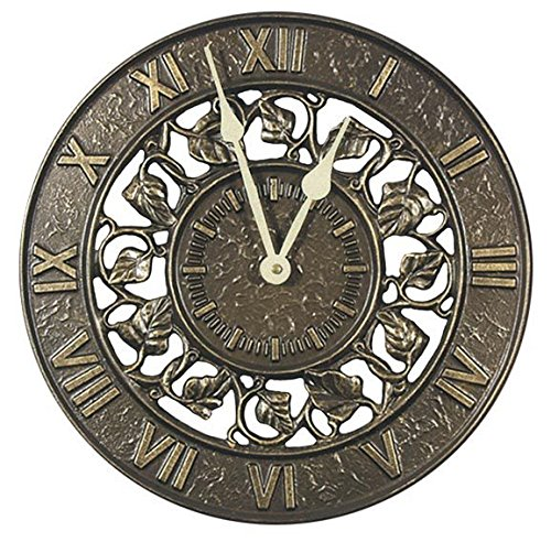 Whitehall Ivy Silhouette Outdoor Clock 12