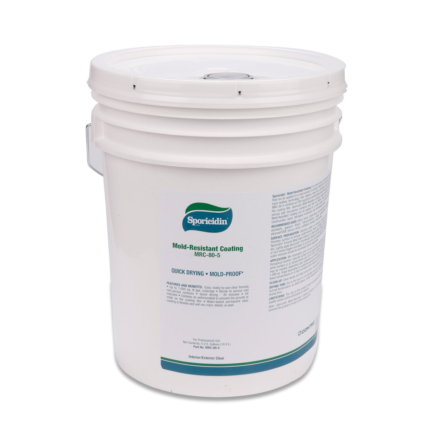Contec CD35PL Sporicidin Mold Resistant Coating/Clear 5 gallons