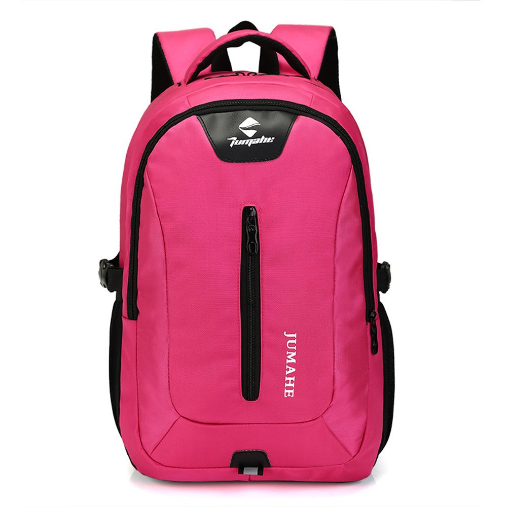 Rosiest School Backpack for Girls Boys for Middle Causl Neutral Nylon Backpack Solid Color Men Travel Student School Laptop Bag