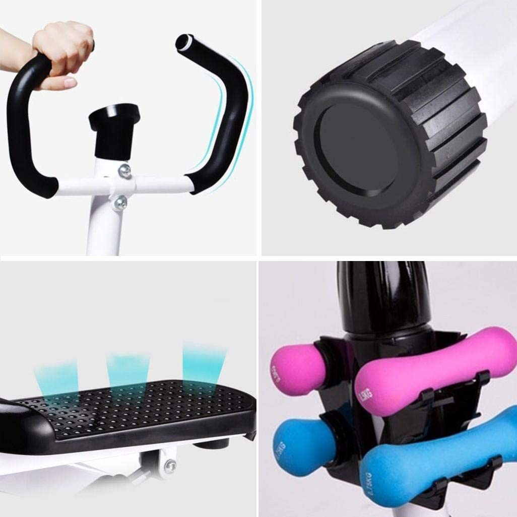 Air Stepper with LCD Display//Handlebar Yinguo Adjustable Climber Mountaineering Stepper Air Walker Aerobic Ab Cardio Cross Training Workout Machine Silent Indoor Home Gym Exercise Fitness Equipment
