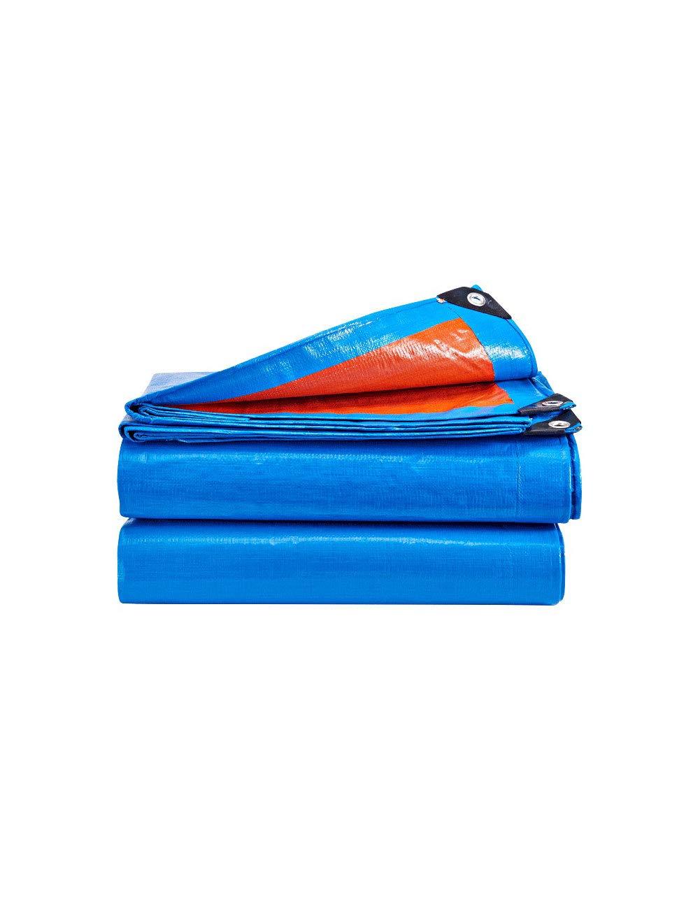 DLyng 防水キャンバスタープブルーとレッドリバーシブル多目的タープカバースーパーヘビーデューティターフグロメットと強化されたエッジ耐久性、耐紫外線性、車用ターポリン、キャンプテント (Size : 7m*5m) 7m*5m  B07HF43PDS
