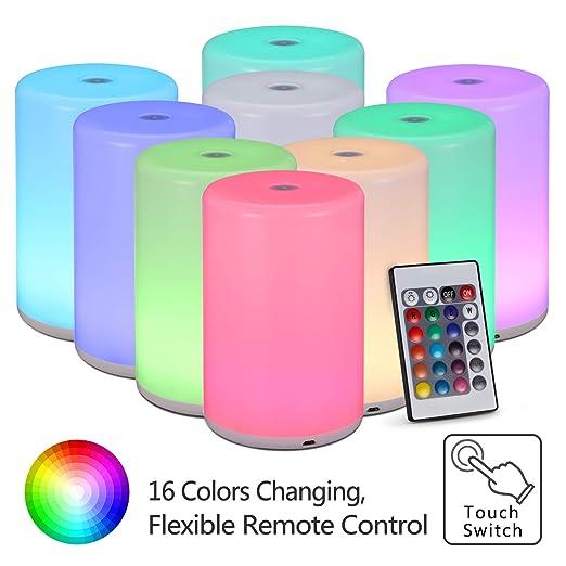 Kwokwi - Lámpara LED de mesa con mando a distancia, 5 niveles de ...