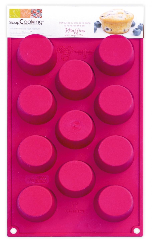 ScrapCooking Silicone 11-Cupcakes Mold, Mini 3700392431112