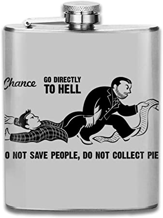 Supernatural Monopoly Go Directly to Hell Print Hip Flask Pocket Bottle Flagon 7oz Portable Stainless Steel Flagon: Amazon.es: Hogar