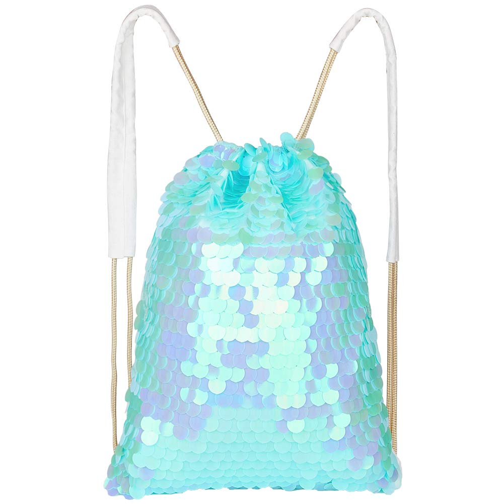 4bfb81469069 MHJY Mermaid Sequin Bag,Magic Sparkly Sequin Drawstring Backpack Glitter  Sports Dance Bag Shiny Outdoor Beach Travel Backpack
