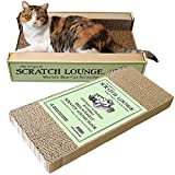 Scratch Lounge - Reversible Cardboard Cat Scratcher with Floor Refill and Catnip