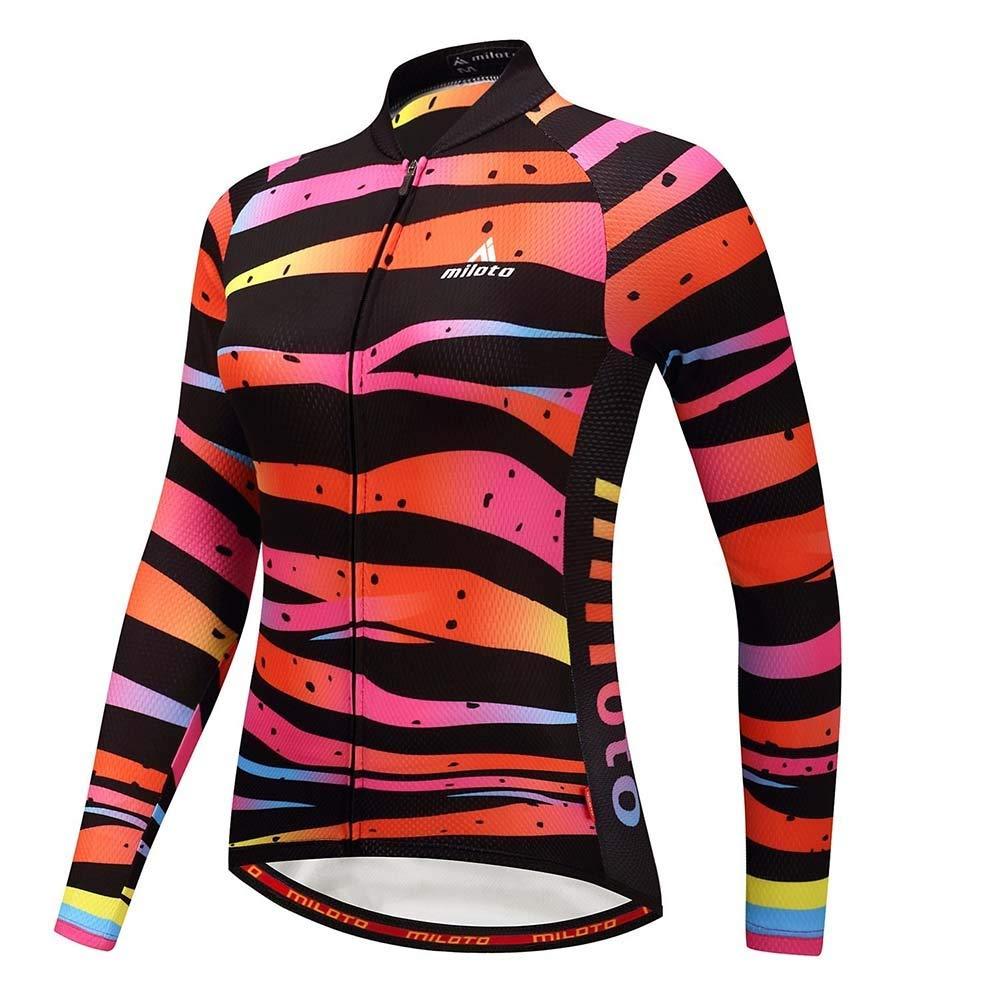 JTCT Combinaison de Cyclisme Nouvel /ét/é Sports de Plein air d/ét/é /à Manches Longues Chemise Femme Pantalon Respirant Cyclisme /évacuant lhumidit/é