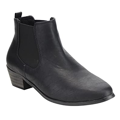Women's Chelsea Slip On Stacked Ankle Bootie