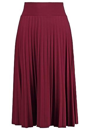 9bcd50b88a524b Anna Field Jupe plissée pour Femme mi-Longue en Rouge, Taille 34 ...