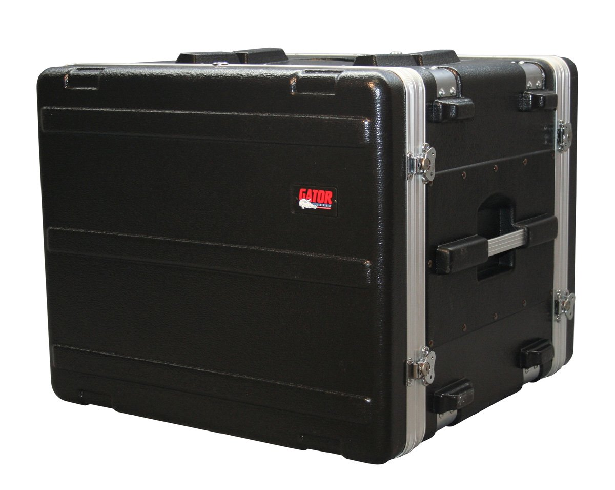 Gator Cases Lightweight Molded Shock Rack Case with 16.5'' depth; 8U Size (G-SHOCK-8L)