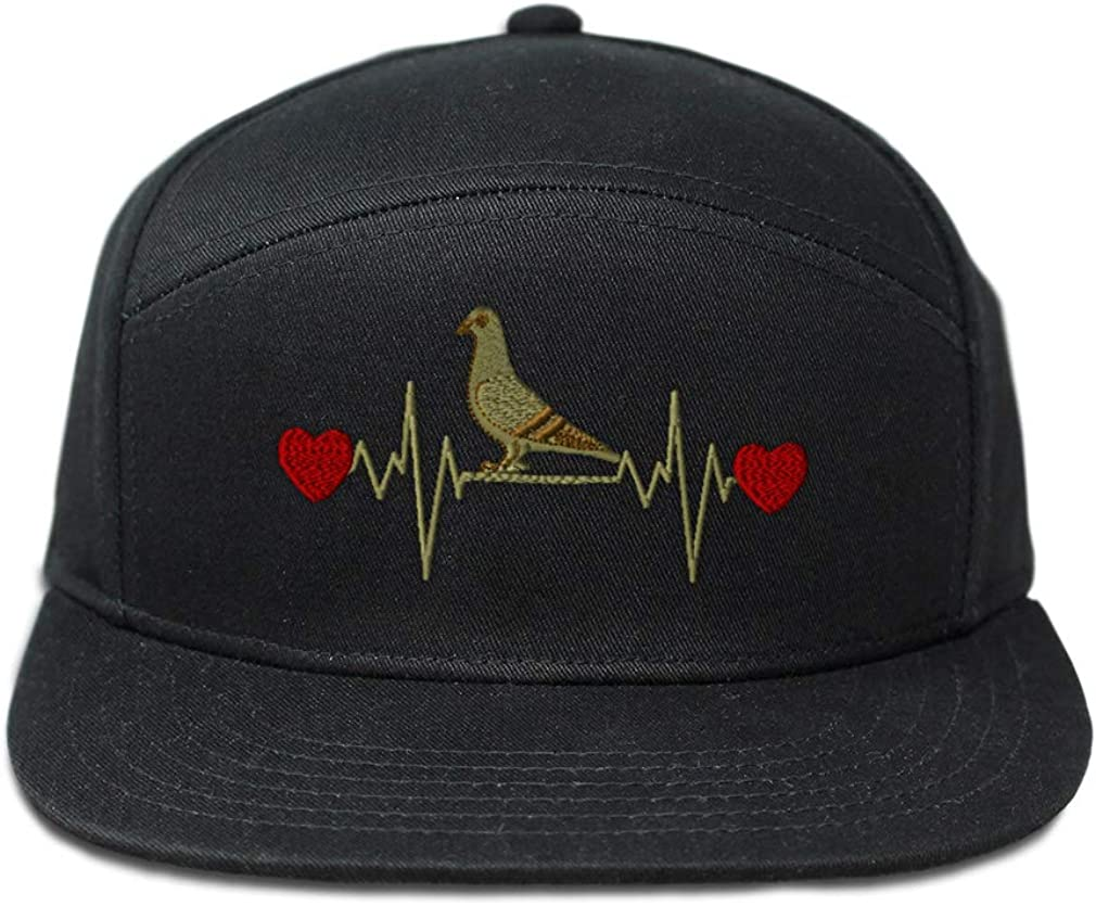 Snapback Hats for Men /& Women Pigeon Lifeline B Embroidery Cotton Snapback Black