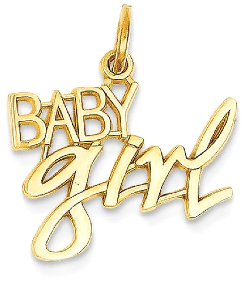 ICE CARATS 14k Yellow Gold Baby Girl Pendant Charm Necklace Kid Fine Jewelry Gift Set For Women Heart