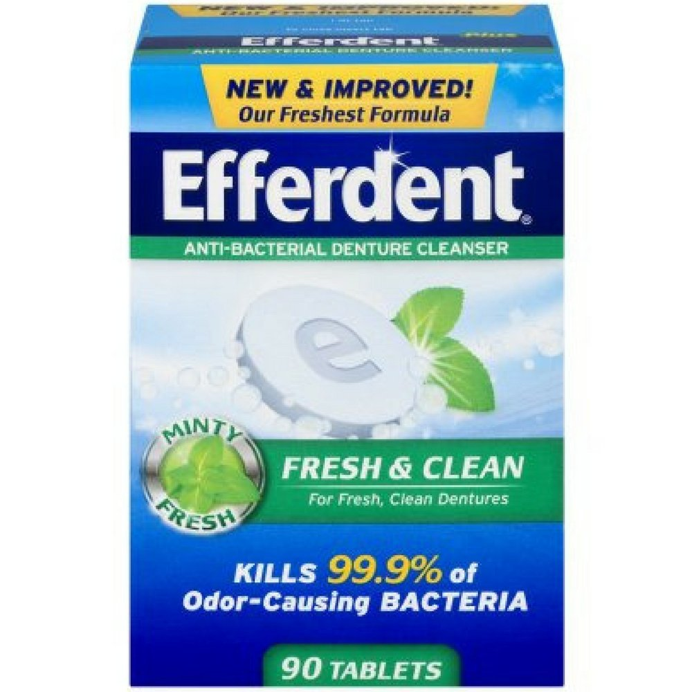 Efferdent Plus Mint Denture Cleanser Tablets 90 ea by Efferdent (Image #1)