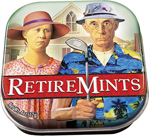 The Unemployed Philosophers Guild Retiremints - 1 Tin of Mints - Holiday Mint Tins