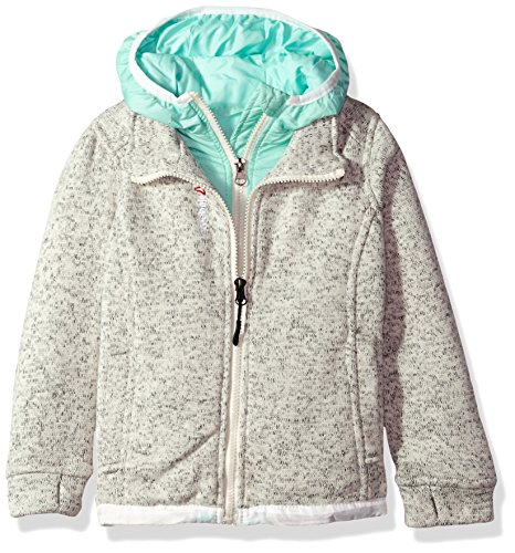 - Reebok Girls' Active Outerwear Jacket,Sweater Fleece Cream/Mint,4T