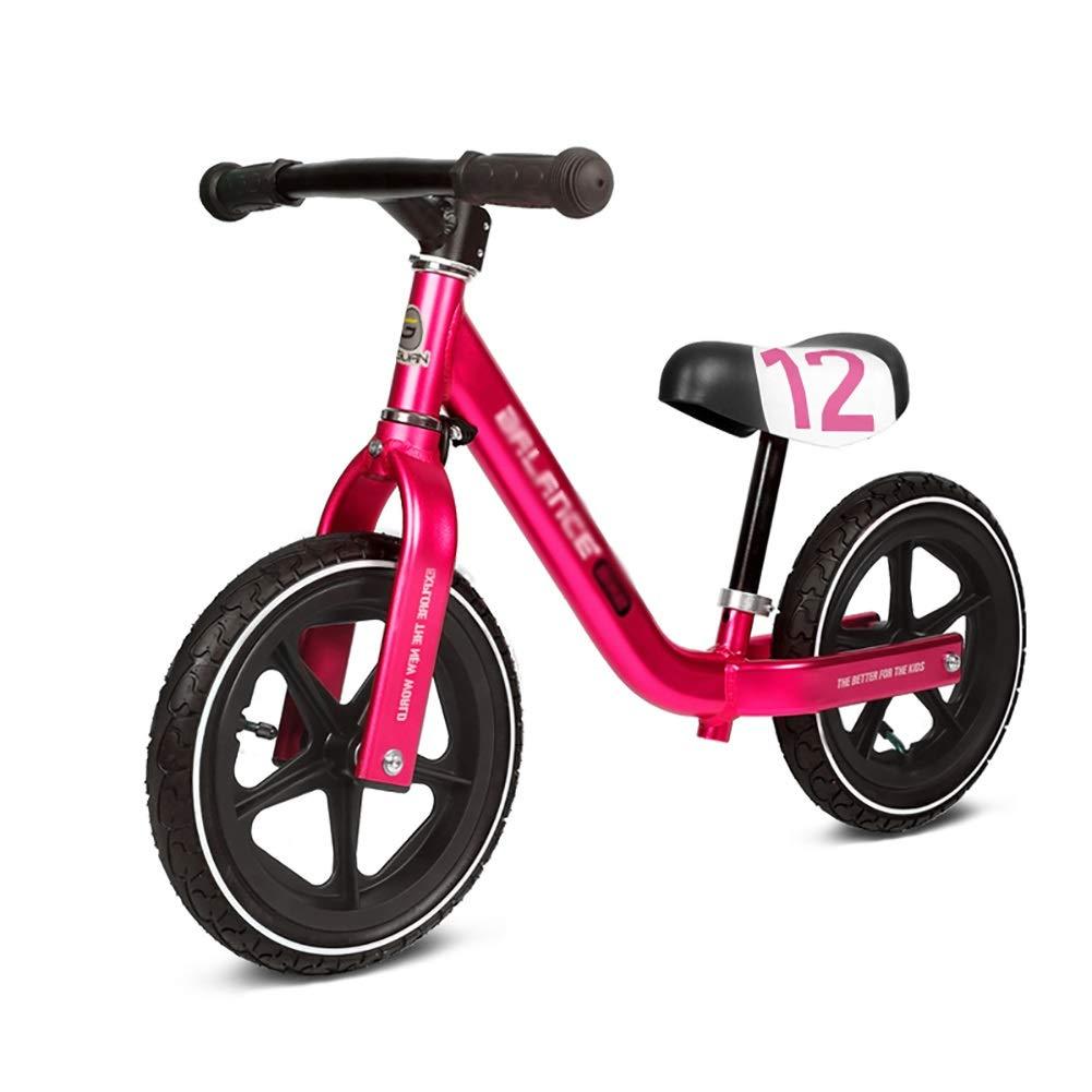 Bicicletta Senza Pedali No Pedal Balance Bike, Bicicletta Girevole per Bambini in Alluminio, 12 Pneumatici Pneumatici, Regalo di Compleanno per Bimbi Ragazze di 2-6 Anni (colore   Red)
