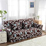 RUGAI-UE Sofa Slipcover sofa cover tight fitted elastic gasket cover three upholstered sofa full four living room,A single seater 90-140cm,Exquisite language