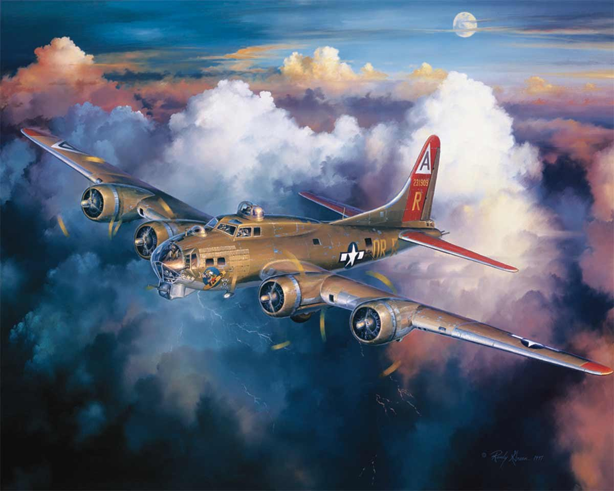 White Mountain Puzzles B-17 Bomber - 1000 Piece Jigsaw Puzzle