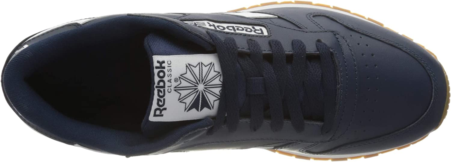 Reebok Cl Leather Mu, Gymnastics Shoe Homme Collegiate Navy White Reebok Rubber Gum 06