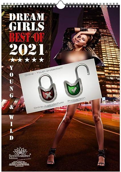 Calendario 2021 (29,7 x 42,0 cm) ragazza erotica sexy Dreamgirls