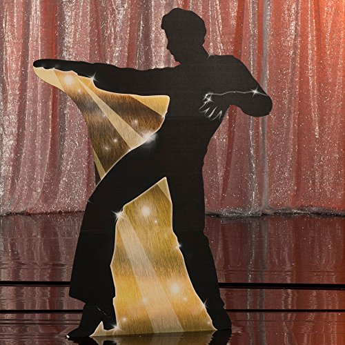 5 ft. 7 in. 70s Seventies Studio 18 Silhouette Standee 4 Standup Photo Booth Prop Background Backdrop Party Decoration Decor Scene Setter Cardboard Cutout