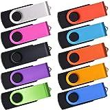 USB Sticks - 20 Stück 512MB USB Flash Laufwerke - Kepmem Billig Bunt Rotate Metall Kleine Speicher