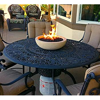 Amazon.com : Patio Table Top Fire Bowl Runs On Propane