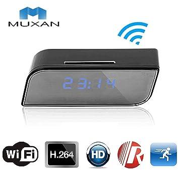 MUXAN Spy CAM WiFi de visión Nocturna Oculta Reloj cámara ...