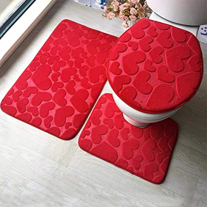 Buy Touaretails Bath Mat Red Microfiber And Memory Foam 40 X 40 Cm Online At Low Prices In India Amazon In
