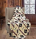 Virah Bella SouthWest Native Beige Throw Blanket