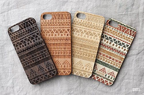 Miniwood iPhone/ Samsung Case - Natural Real Wooden, Unique Case, Wooden Case for Your Phone, Laser Engraving, Protective Bumper with Real All Wooden Cover, Unique Gift for Friends