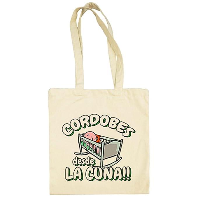 Bolsa de tela Cordobés desde la cuna Córdoba fútbol - Beige, 38 x 42 cm