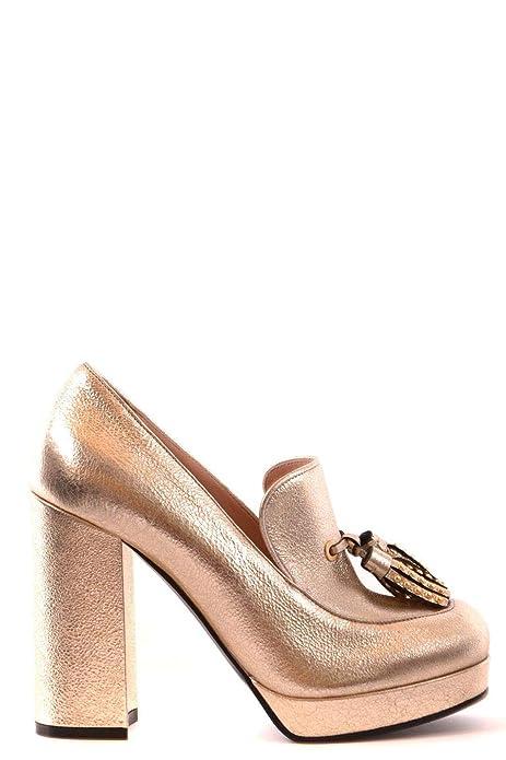 Pinko Scarpe con Tacco Donna VISIONE1ZZL Pelle Oro  Amazon.it ... aff0773b3c9