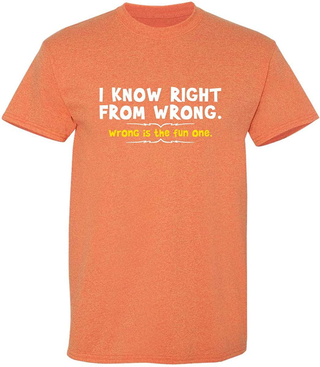 Right from Wrong Graphic Novelty Sarcastic Funny T Shirt