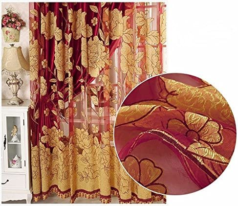 JetkyShop Modern Tulle Window Curtain Embroidered Voile Sheer Curtains for Living Room The Bedroom Window Screening