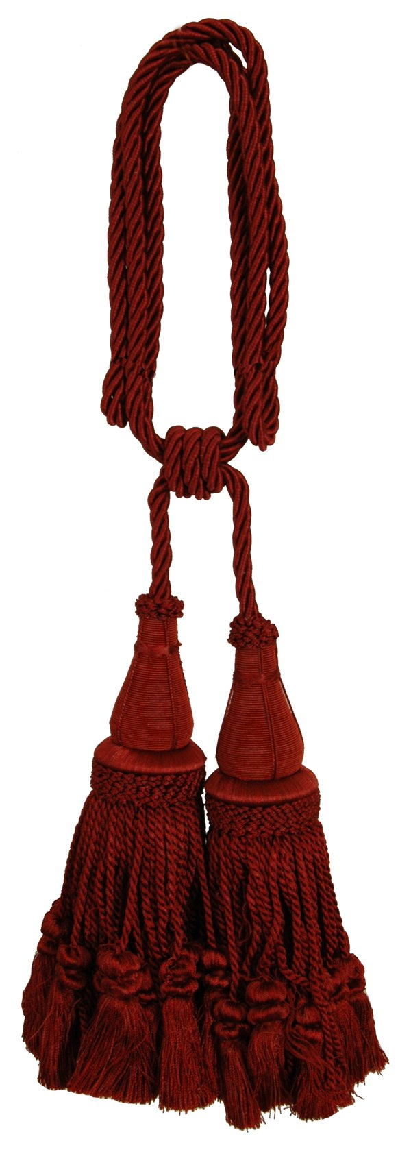 India House 79894 Jhalar Tieback with 10-Inch Double Tassel and 36-Inch Cord, Sienna