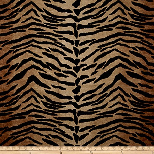 Fabric Safari Madness Upholstery Tiger, Toffee