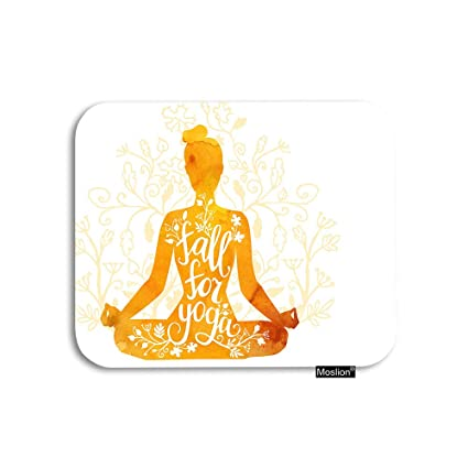 Amazon.com : Moslion Yoga Mouse Pad Woman in Lotus Pose Tree ...