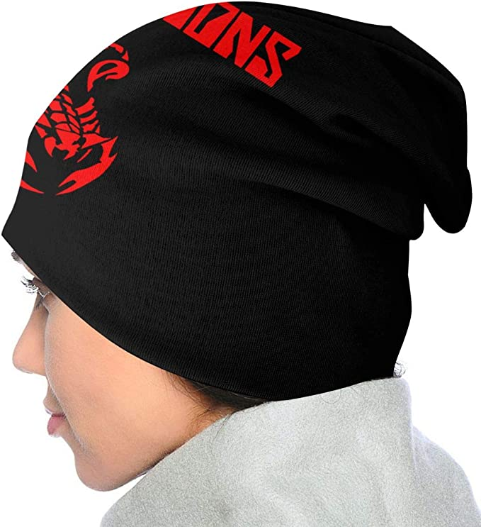 studded beanie studded unisex beanie The scorpions beanie with patch patches beanie band patch
